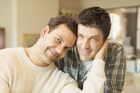 Portrait affectionate male gay couple - CAIF04348