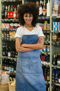 Portrait of smiling woman in a store - EBSF02194
