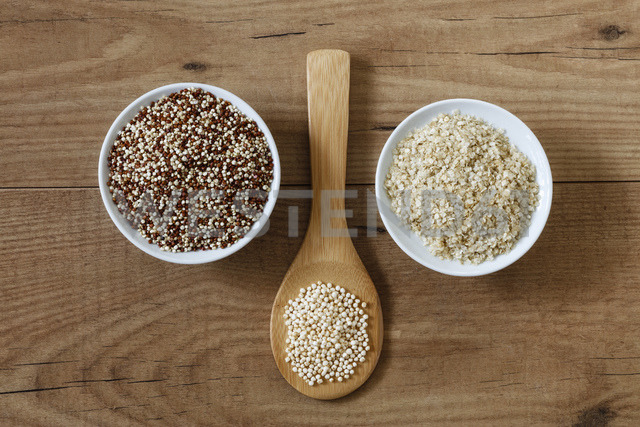 Quinoa graines, puffed quinoa and quinoa flakes - EVGF03296
