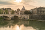 Italy, Lazio, Rome, View of Ponte Vittorio Emanuel II with the Vatican City in the background - TAMF00945