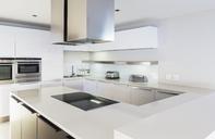 Modern, minimalist white home showcase kitchen - HOXF01350