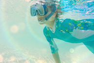 Boy snorkeling underwater - HOXF01398
