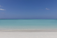 Seascape view blue tropical ocean under sunny blue sky - HOXF01413