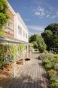 Sunny home showcase exterior villa with patio and garden - HOXF01440