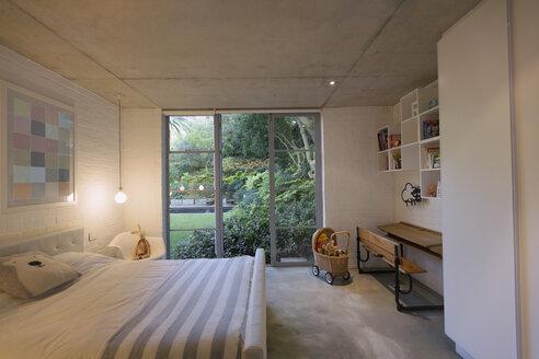 Home showcase interior child's bedroom open to garden - HOXF02022