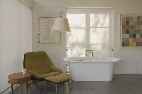 Modern luxury home showcase interior hotel room with soaking tub - HOXF02058