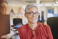 Portrait smiling businesswoman - HOXF02967