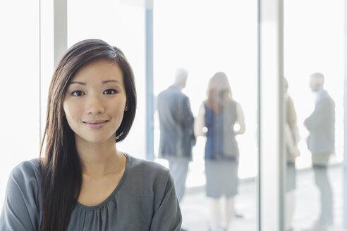 Portrait smiling businesswoman - HOXF03282