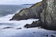 Ocean and craggy cliffs, Devon, United Kingdom - CAIF05915