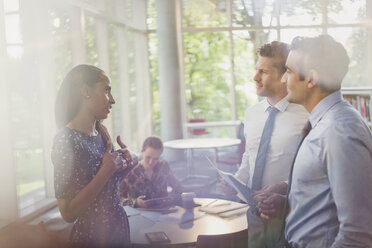 Business people talking in office - CAIF06245