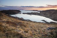 Tranquil ocean bay at sunset, Scotland - CAIF07517
