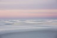 Sunset over tranquil white sand dune, White Sands, New Mexico, United States - CAIF07586