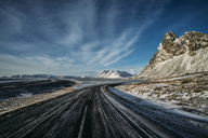 Remote, icy road, Iceland - CAIF07610