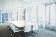 Empty meeting table in office - CAIF08089