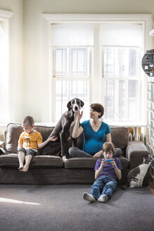 Family relaxing at home - CAVF02593