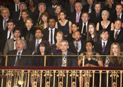 Serious audience in theater balcony - CAIF08116