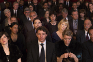 Bored woman in theater audience - CAIF08131