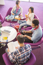 University students reading in lounge - CAIF08188