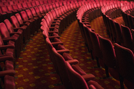 Seats in empty theater auditorium - CAIF08371