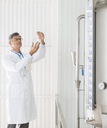 Scientist working in food processing plant - CAIF08416
