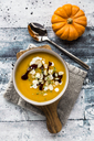 Bowl of creamed pumpkin soup - SARF03602