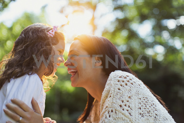 Enthusiastic mother and daughter smiling face to face - CAIF08842 - Paul Bradbury/Westend61