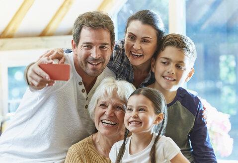 Multi-generation family taking selfie - CAIF09196
