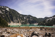 Scenic view of lake against mountain - CAVF04379