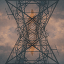 Cuba, power pylon, upward view - GUSF00539