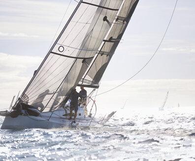Sailboat on sunny ocean - CAIF10162