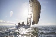 Sailboat on sunny ocean - CAIF10171