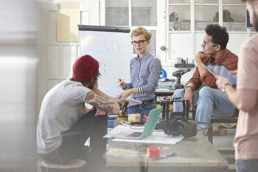 Designers meeting, brainstorming in workshop - CAIF10627