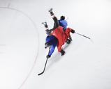 Hockey players colliding on ice - CAIF11152