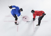 Hockey opponents in opening face off - CAIF11167