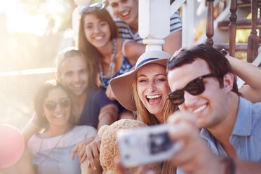 Friends taking selfie outdoors - CAIF11299