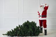 Santa Claus with Christmas tree - ABIF00102