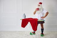 Santa claus having a coffee break - ABIF00117