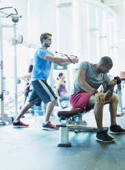 Men working out at gym - CAIF11838