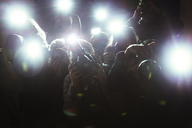 Close up of paparazzi photographers pointing cameras - CAIF12021