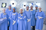 Portrait of confident team of surgeons in operating room - CAIF13323