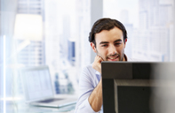 Man using computer in office - CAIF13995