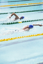 Swimmers racing in pool - CAIF14121