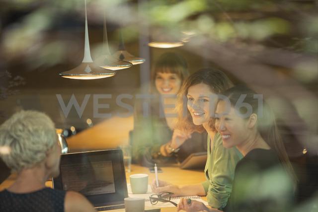 Businesswomen talking in office meeting - CAIF14865