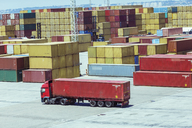 Truck carrying cargo container - CAIF15147