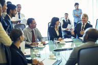 Large group of business people having meeting in conference room - CAIF15445