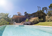 House exterior with large swimming pool - CAIF15679