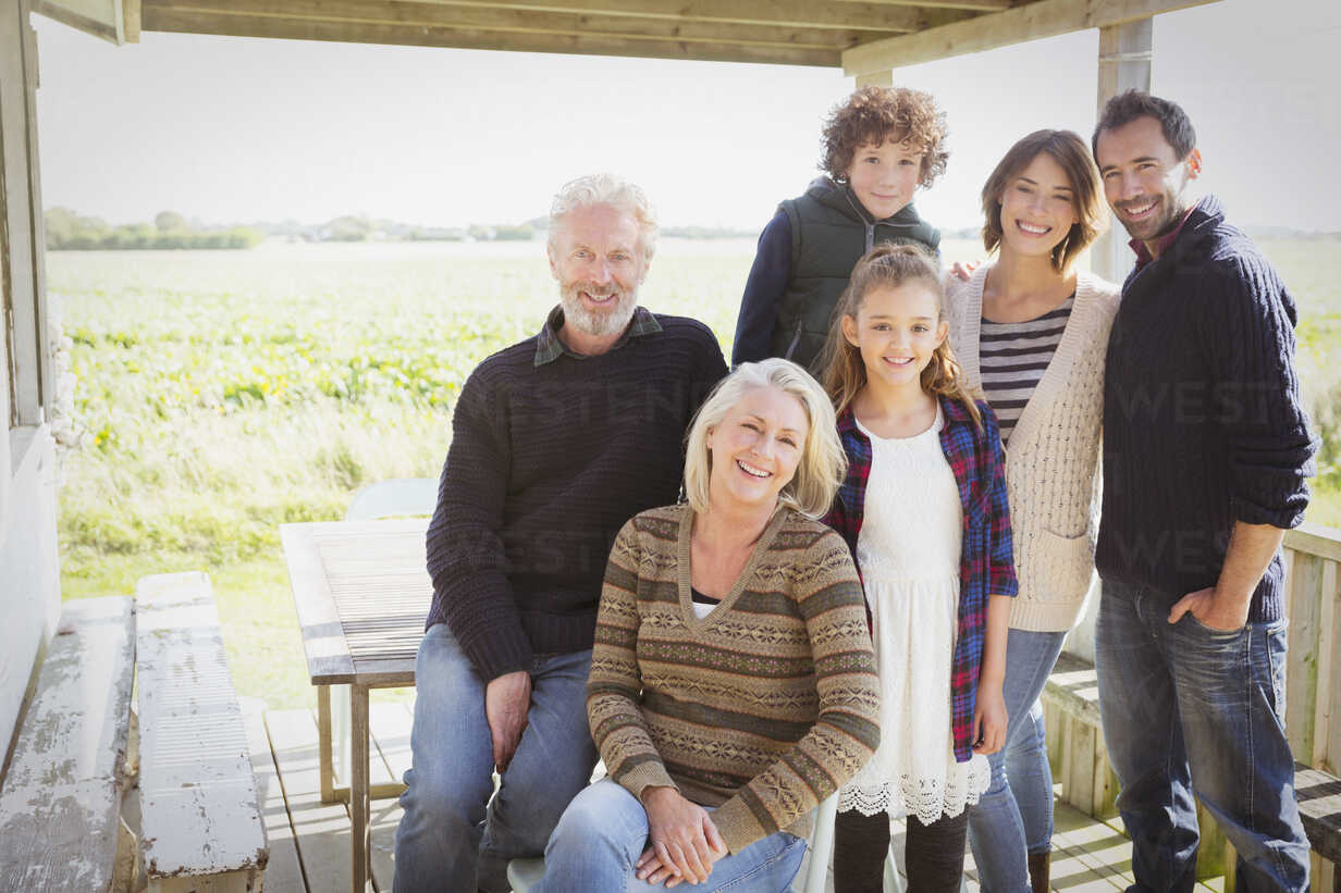Portrait smiling multi-generation family on porch - CAIF15892 - Sam Edwards/Westend61
