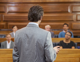 Lawyer pleading case to jury in court - CAIF16895