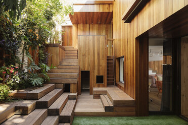 Wooden steps and courtyard - CAIF17088