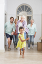 Family running through home together - CAIF17233